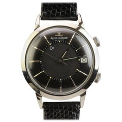 Jaeger LeCoultre Stainless Steel Memovox Wristwatch