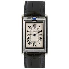Cartier Stainless Steel Tank Basculante Wristwatch Ref 2390