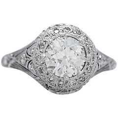 Diamond Antique Engagement Ring 1.20 Carat