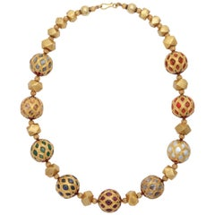 Multi Gem Nine Planet Necklace