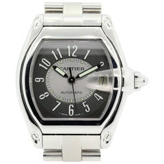 Cartier Stainless Steel Tuxedo dial Roadmaster Wristwatch