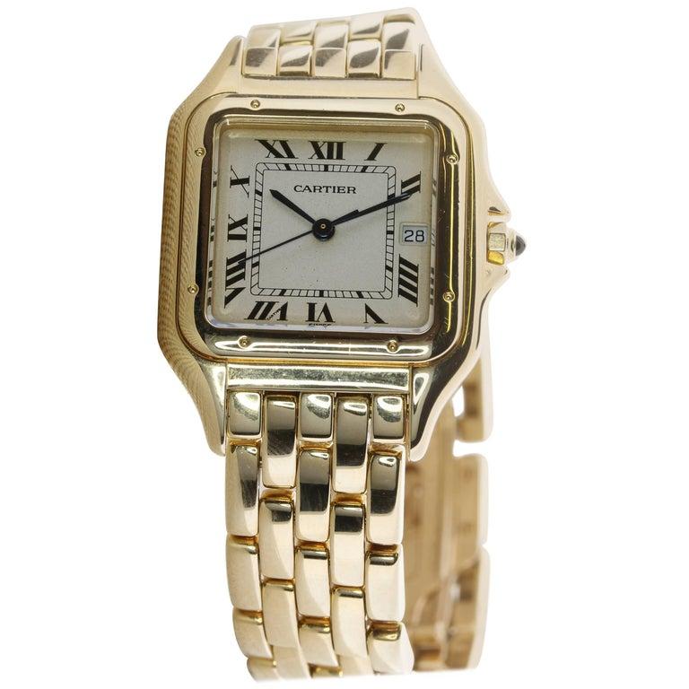 Cartier Yellow Gold Panthere quartz wristwatch For Sale