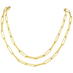 Italian 1970s Long Gold Chain