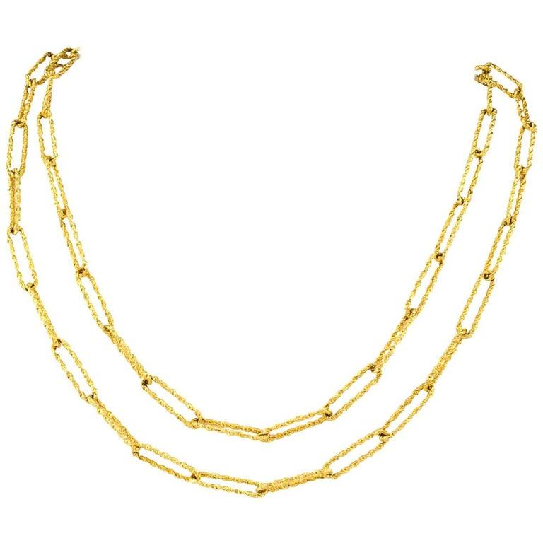 Italian 1970s Long Gold Chain