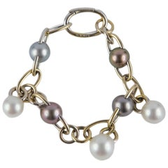 18 Karat Gold Bracelet with Pearls
