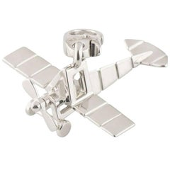 Cartier Airplane White Gold Charm