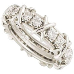 Tiffany & Co. Schlumberger Diamond Ring 1.14 Carat