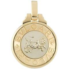 Bulgari Taurus Zodiac Gold Pendant