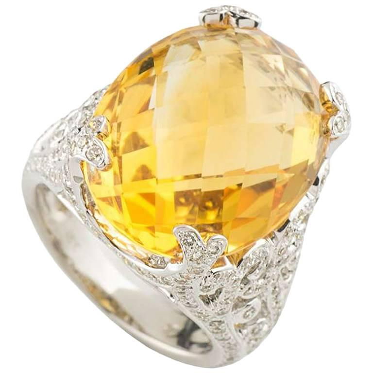 Citrine and Diamond Ring 1