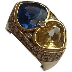 Heart Shape Sapphires Ring