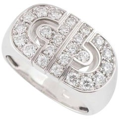 Bulgari White Gold Diamond Parentesi Ring