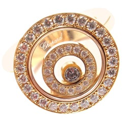 Chopard Happy Spirit Diamond Yellow Gold Ring