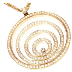 Chopard Happy Spirit Diamond Yellow Gold Large Pendant Necklace