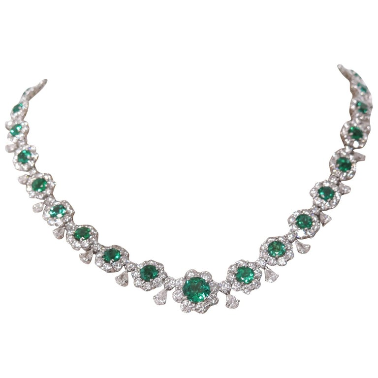 Emerald and Diamond Necklace 1