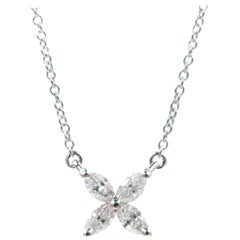 Platinum Tiffany & Co. Victoria Diamond Pendant