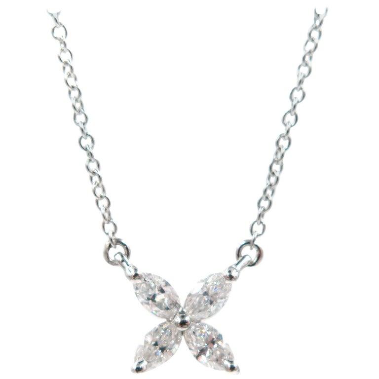 cf538a4dc464 Platinum Tiffany and Co. Victoria Diamond Pendant at 1stdibs