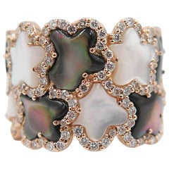 Rose Gold Mother-of-Pearl Wide Band