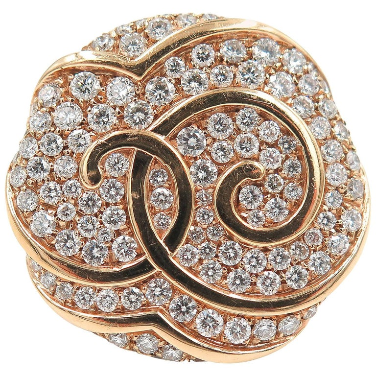 Rose Gold Diamond Cocktail Ring