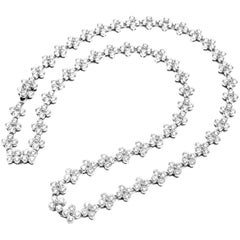Tiffany & Co. Lace Diamond Flower Platinum Necklace