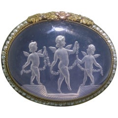 Antique Neoclassical Intaglio, circa 1890