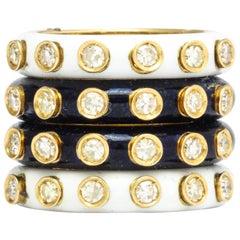 Christian Dior Enamel Diamond Ring