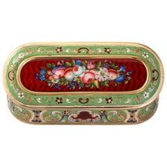 Antique Swiss Enamel Snuff Box