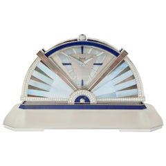 Piaget Diamond White Gold Multi Gem Table Clock