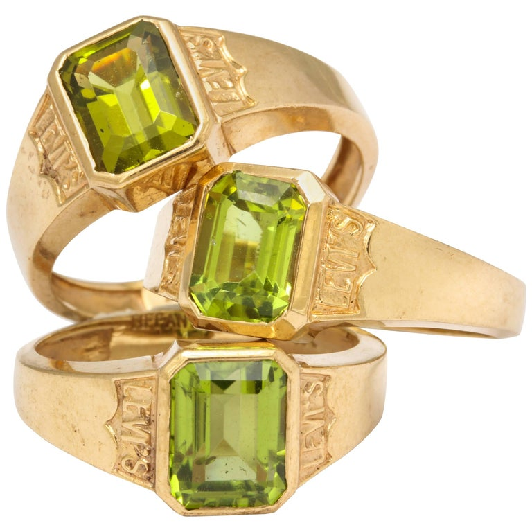Levis Jeans Gift Stackable Tiffany & Co. Peridot Gold Rings