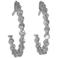 18 Karat and Fine Diamond Hoops