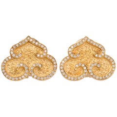 Diamonds Gold Earrings