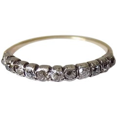 Georgian Cushion Cut Diamond Half Eternity Ring