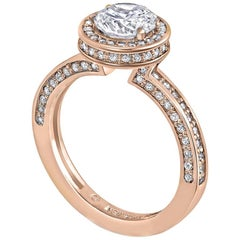 Alex Soldier Eternal Love Diamond Engagement 1.55 Carat Ring in Rose Gold
