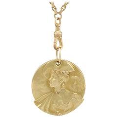 1890s and 1920s Diamond 18 Karat Yellow Gold Locket