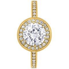 Alex Soldier Eternal Love Diamond Engagement Ring in Yellow Gold, 1.55 ct.