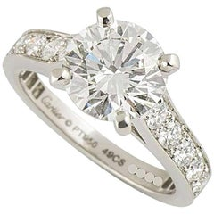 Cartier 1895 Diamond Platinum Engagement Ring