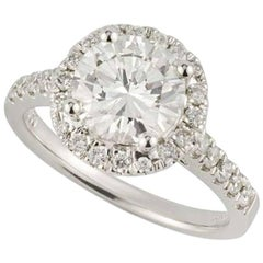 Certified Diamond Engagement 2.00 Carat Engagement Ring