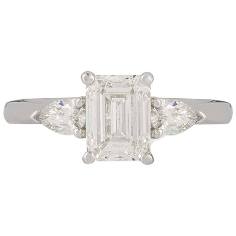White Gold Diamond Engagement Ring 1.17 Carat
