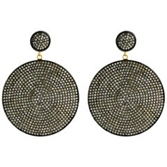 Diamond Pave Disc Earring