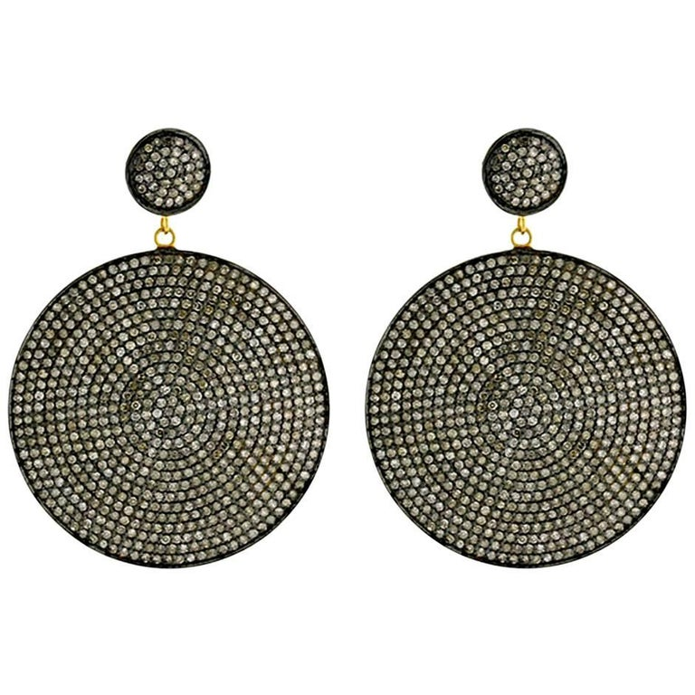 Diamond Pave Disc Earring