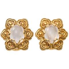 Altfield Moonstone Gold Earrings