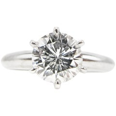 1.01 Carat GIA Report Internally Flawless Diamond Platinum Engagement Ring