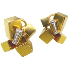 Alfred Karram Modernist Earrings, 1970s