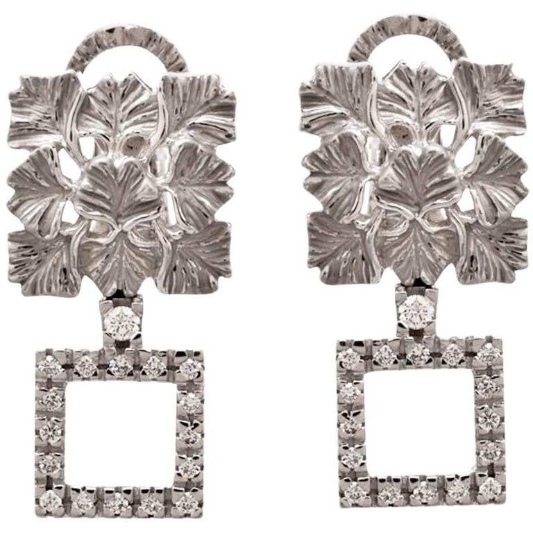 Carrera y Carrera Ginkgo Leaf Diamond Gold Clip-On Earrings