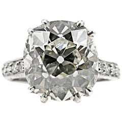 4.47 Carat Cushion Diamond Platinum Engagement Ring