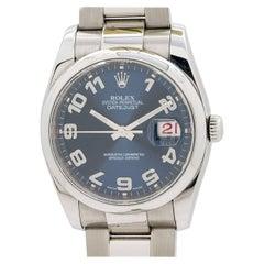 Rolex Stainless Steel Datejust Self Winding Wristwatch Ref 16200, circa 2002