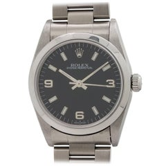 Rolex Stainless Steel Oyster Perpetual Midsize Wristwatch Ref 77080, circa 1998