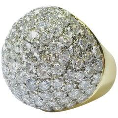 1960s 9 Carat of Diamonds Dome Ring