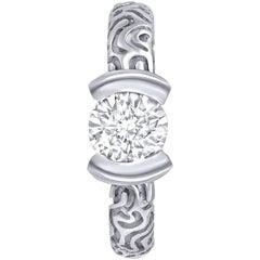 1 Carat Alex Soldier Diamond Valentine Platinum Engagement Ring One of a Kind