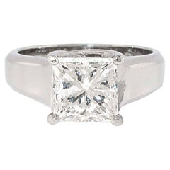 2.08 i/VS2 Princess Cut Diamond Platinum Engagement Ring, GIA Certified