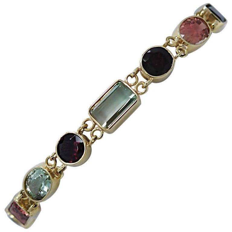 Multicolored Tourmaline Bracelet